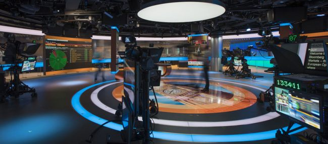 Bloomberg Television broadcast facility in London